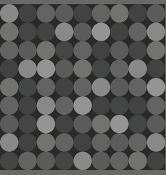 tile pattern with big white grey and black dots vector image vector image
