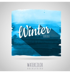 Watercolor abstract background Seasons winter vector image