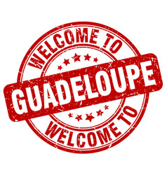 Welcome to guadeloupe vector