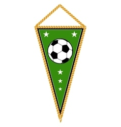 Green soccer pennant isolated white vector