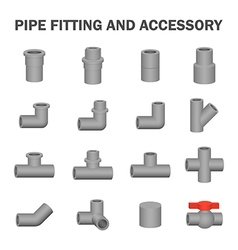 Pipe fitting icon vector