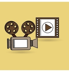 Concept cinema camera film strip design vector