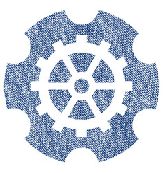 Gearwheel fabric textured icon vector