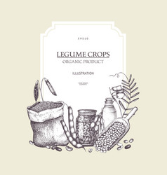 farm fresh and organic plants template vector image
