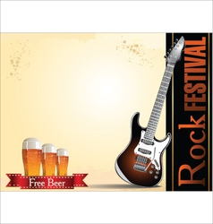 Rock festival free beer vector