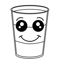 coffee shake fresh kawaii character vector image