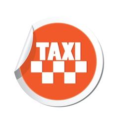 taxi sign orange sticker vector image