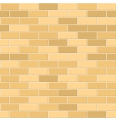 Seamless pattern of yellow brick with light seam vector