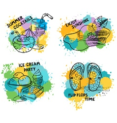 summer doodle stuff vector image