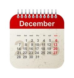 calendar 2015 - december vector image