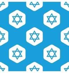 Star of david hexagon pattern vector