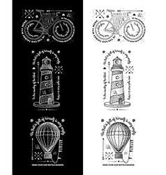 Trendy Retro Vintage Insignias - Badges set vector image