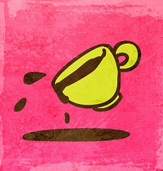 Spilt coffee cartoon vector