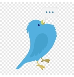 Singing blue bird vector