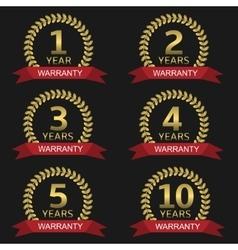 Warranty label set vector image