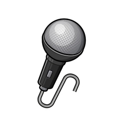 Microphone icon retro sound save metal device vector