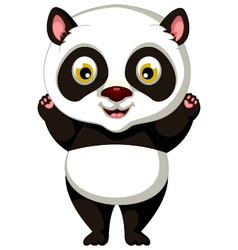 Happy panda cartoon posing vector