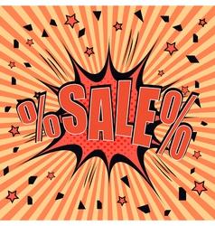 Sale comic style vector