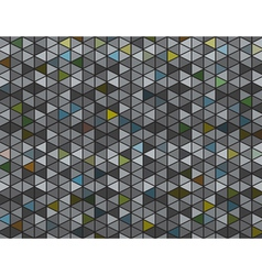 Abstract Grey and Colored Triangles Background vector image vector image