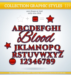 Blood graphic style for design vector