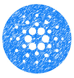 Cardano currency icon grunge watermark vector