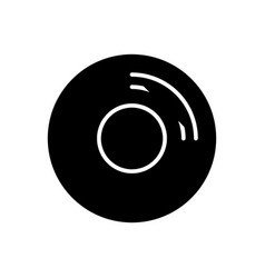 cd disk icon black sign on vector image