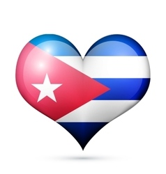 Cuba Heart flag icon vector image