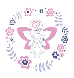 Design with fairy vector image vector image