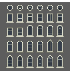 Different types of windows Eps10 vector image