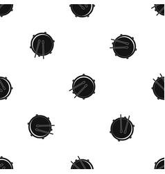 drum pattern seamless black vector image