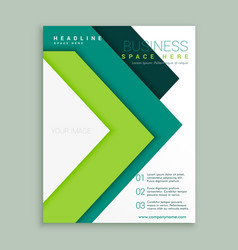 Elegant green arrow style business brochure vector