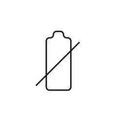 empty battery icon vector image