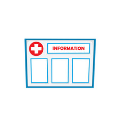 Flat information board isolated vector
