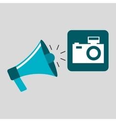 Marketing digital photo camera concept vector