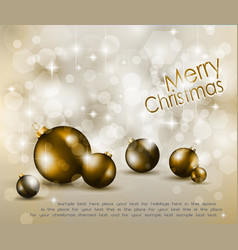 merry christmas elegant vector image vector image