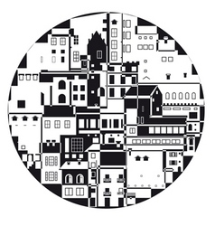 Monochrome town vector