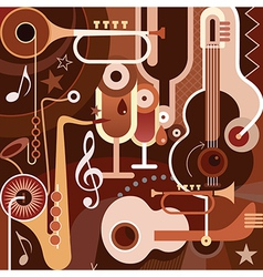 musical collage vector image vector image