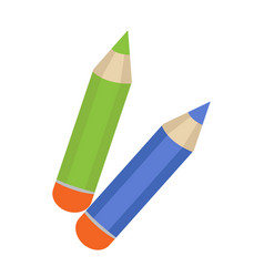 pencil icon flat cartoon style isolated on vector image