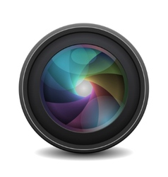 Photo lens isolated on white background vector