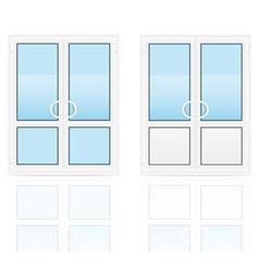 plastic doors 03 vector image