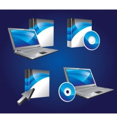 product software icons vector image