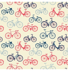 Seamless pattern with vintage bicycles vector image vector image