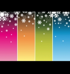 slowly falling snowflakes vector image