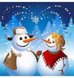 Snowman on date vector