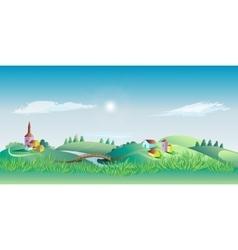 Springtime Landscape Environment vector image