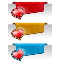 Stickers on the edge of the page vector image vector image