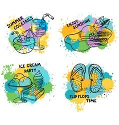 Summer doodle stuff vector