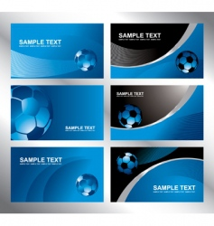 Various soccer card vector