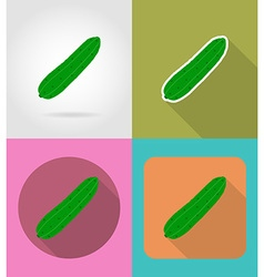 Vegetables flat icons 04 vector