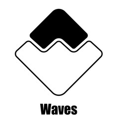 Waves icon simple style vector